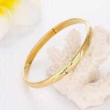 New Charms Bangle 18K Yellow Gold Filled 64mm Women Bracelet Fashion Jewelry Hot