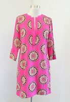 Crown and Ivy Pink Medallion Print Bell Sleeve Tunic Shift Dress Size 2