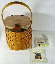 Longaberger Collector's Club 5 Year Anniversary Charter Member Basket w/ Coa