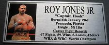 Boxing Roy Jones Jnr. Photo Silver Free Postage