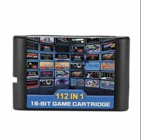 112 in 1  16 bit MD Game Card No Repeat for Sega Genesis Console Game Players