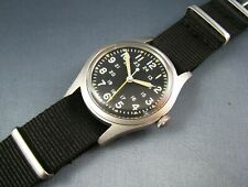 RAREST VERSION Hamilton GG-W-113 US Military Hacking Mens Pilots Watch NOV 1982