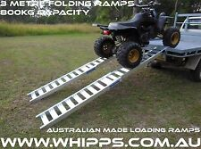 2X ALUMINIUM FOLDING LOADING RAMPS ATV QUAD BIKE
