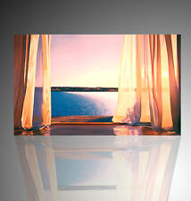 trompe l'oeil- finestra sul mare- adesivo per muro- wall stikers arredo moderno