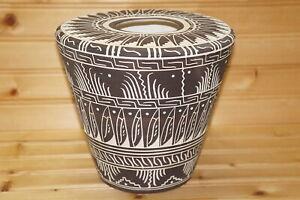 "Carol Willie Native American Vase, 7""h x 7 3/4"""