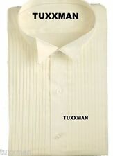 New Ivory Wing Tuxedo Shirt Pleated Formal Tux Shirt 14 14.5 x 36 37