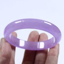 58-60mm Handmade Lavender Purple Jadeite Jade Bangle Bracelet