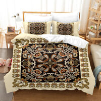 3D Ethnic Pattern Quilt Cover Set Pillowcases Duvet Cover 3pcs Bedding