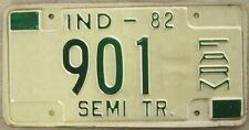1982 INDIANA SEMI-TRAILER FARM LICENSE PLATE # 901