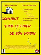 Affiche 40x60cm COMMENT TUER LE CHIEN DE SON VOISIN 2000 Kenneth Branagh TBE