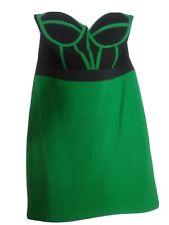 Krazy Brand Dress. Built-in Bra Sleeveless Dress. Black & Green Stretchy. Size M
