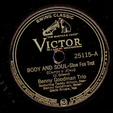Benny GOODMAN Trio Body and Soul/AFTER YOU 'VE GONE GOMME LAQUE PLAQUE x2676