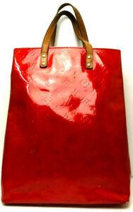 Louis Vuitton  Vernis Lead MM Handbag Red Patent Leather M91086