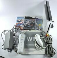 Nintendo Wii Console RVL-001 - Tested GameCube Compatible Three Game Bundle