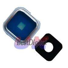 verre objectif photo cadre housse pour Samsung Galaxy S5 G900 G900F Blanc