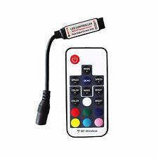 Black Mini 17 Keys 5V-24V 12A RF Wireless Remote Dimmer RGB Controller LED strip