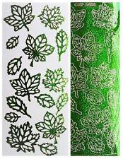 GREEN LEAVES Peel Off Stickers Shimmer Leaf Spring Forest Woodland Summer