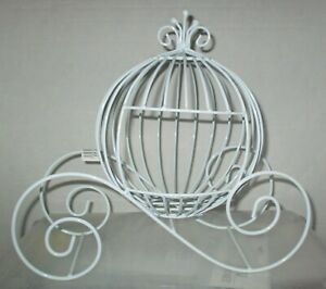 White Wire Cinderella Medium Carriage Pumpkin Carriage Centerpiece