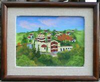 Vintage Folk Art European Landscape Painting