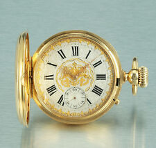 Magnificent 18k gold hunter case detent escapement Vogt Morin 1878 Geneva