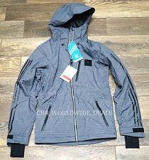 NEW Adidas Recco G68277 Deer Run YD Snowboard Jacket Darkshale - Mens Size Small