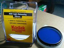 Kodak No 80A Light Balancing 58mm Filter Lens CAT 8643470