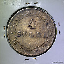 Vatican 4 Soldi PUIS IX bronze 1866 XXI  AC15