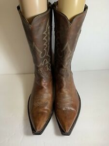 RIO OF MERCEDES LEATHER 4120 WESTERN COWBOY BOOTS BROWN SIZE 11 D
