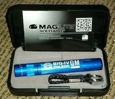 Maglite solitaire mini advertising GM TOLEDO PLANT HYDROMATIC flash light W CASE