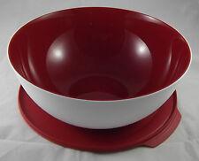Tupperware XL Allegra 5 l Schüssel Rot / Weiß Deckel mit Lasche Neu OVP