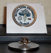 HM Armed Forces Royal Tank Regiment Veteran lapel pin badge .