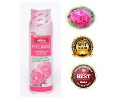 Natural Rose Water with Rose Extract Cleans, Refreshes Face and Body Skin 100ml