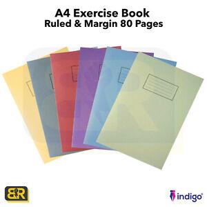 A4 Ruled Feint & Margin Homework School Exercise Book Jotter NoteBook Jotta
