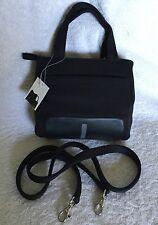 NWT Small NINE WEST Black Nylon/Rubber Tote/Cross Body/Shoulder Bag / Handbag