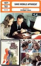 FICHE CINEMA : SANS MOBILE APPARENT - Trintignant,Sanda,Distel,Labro 1971