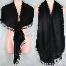 Faux Fur Plain Scarf Warm Soft Shawl Wrap Lace Crochet Knit Vintage Winter Lady