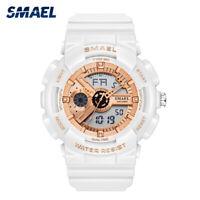 SMAEL Sport Watch for Men Analog Quartz Watches Fashion LED Digital Wristwatch