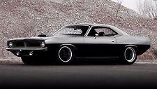 "Plymouth Hem Cuda 70 tuning custom muscle car Canvas Matte Archival 23"" x 33"""