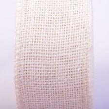Natural Jute Hessian Burlap Ribbon Sewing Craft Wedding Gift Decoration