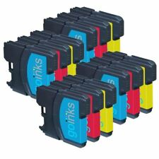 12 C/M/Y Ink Cartridges compatible with Brother DCP-195C MFC-290C MFC-490CW