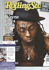 LIL WAYNE Signed 2009 ROLLING STONE MAGAZINE WEEZY TUNECHI YMCMB AUTOGRAPH +JSA