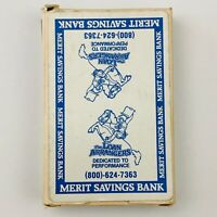 Vintage MERIT SAVINGS BANK Promo Deck of Poker Sized Playing Cards -COMPLETE-