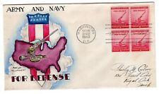 #900 Dorothy Knapp Hand Painted National Defense Army & Navy 1940 FDC