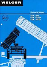 Welger Dreiseitenkipper DK 80 / 100 / 120, orig. Prospekt 70er Jahre