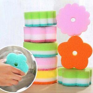 Sponge Dishrag Washcloth Sponges Dishcloth Flower Washing Cloth Home Ktchen