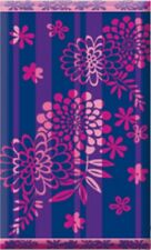 Serviette de plage Drap de bain Fleurs violette mauve en Jacquard