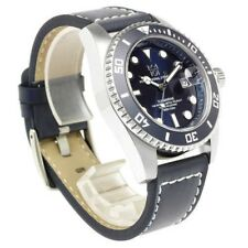 HYAKUICHI 101 Mens Divers watch 20ATM Submarine Leather belt Navy JPN Tracking