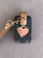 Dooney & Bourke Leather Wristlet Handbag Accessory Flip Phone Case VTG