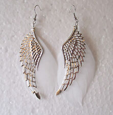 Lightweight Angel Wing and Feather Earrings - Pierced or Clip-on