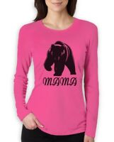 Mama Bear - Mother's Day Gift for Mom Women Long Sleeve T-Shirt Mommy